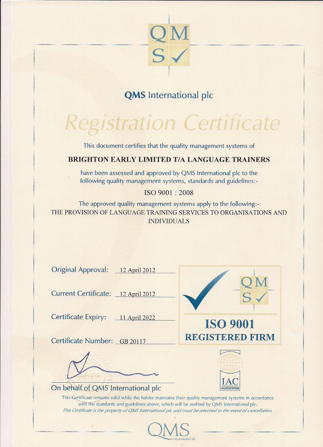 ISO 9001:2008 Accreditaion